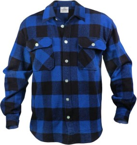 Flannel shirt. Available at pretty much any store, or your dad's closet.